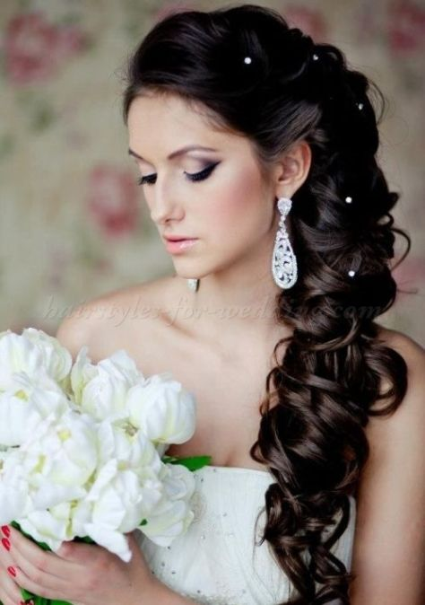 brunette wedding hairstyles