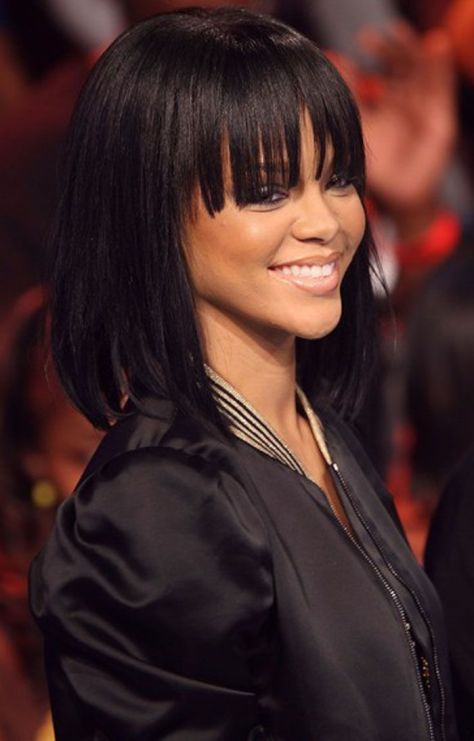black medium length hairstyles