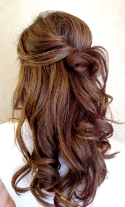 prom hairstyles brown