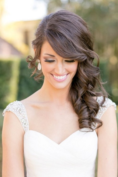 medium hairstyles wedding