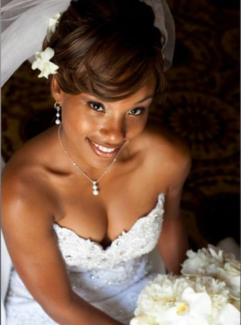 black hairstyles bridesmaid