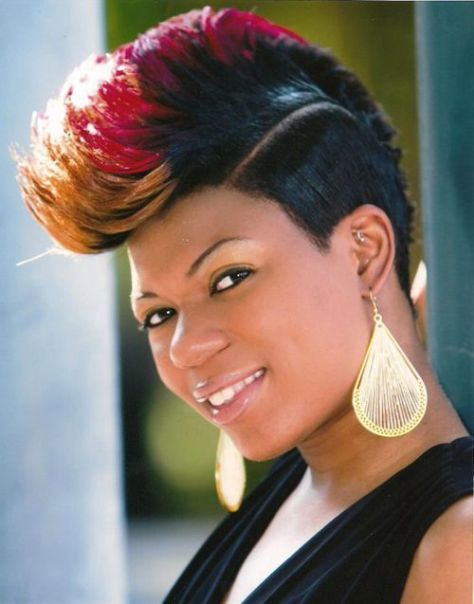 black hairstyles mohawk
