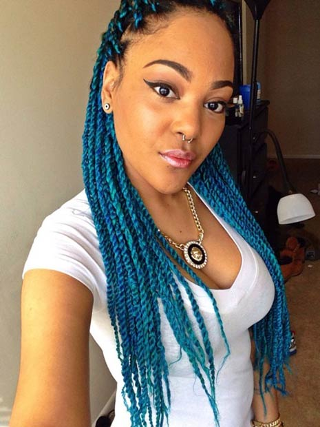 blue black hairstyles
