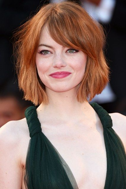 Classy short hairstyle with flirty bangs