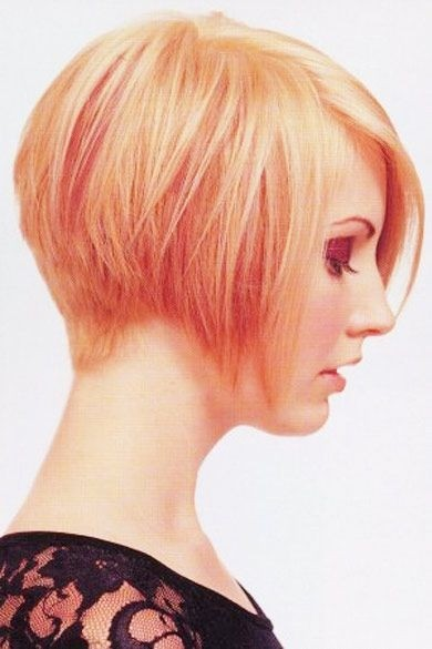 Trendy hairstyle with a nape, undercut and smooth fringe