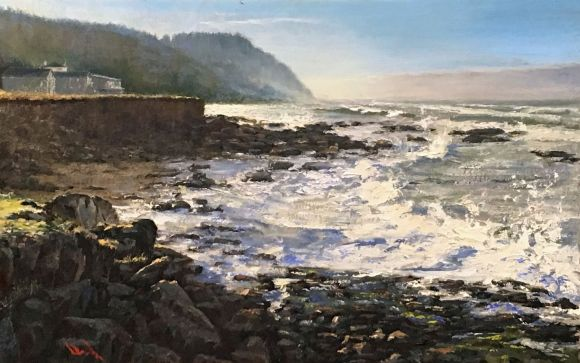Morning Waves, Yachats by David Terry
