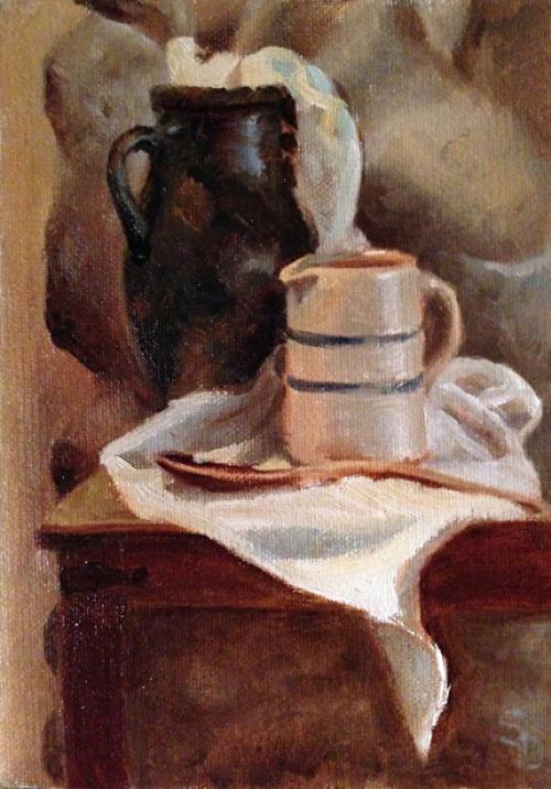Amphora and Crock by Sheri Dinardi