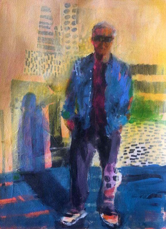 Bob on the Bridge by Barbara Enochian