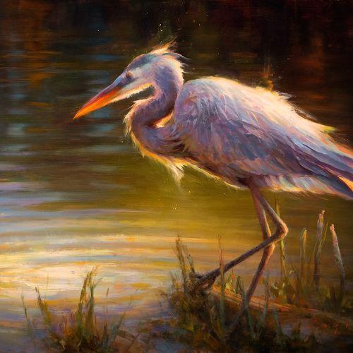 (Grid) Heron Totem by Katherine Taylor