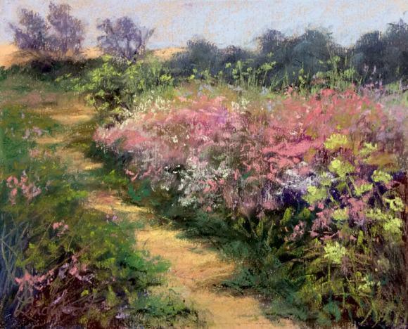 Path Through Coastal Wildflowers III by Gretha Lindwood