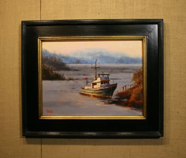 (Frame) Anchored in Brentwood Bay by Charity Hubbard