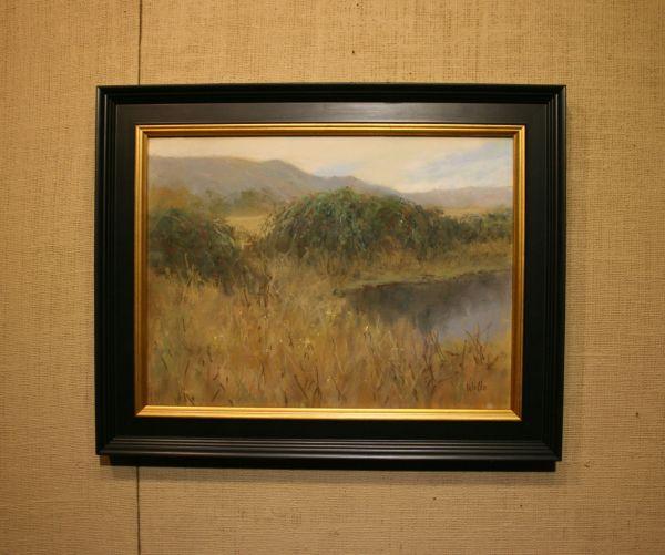 (Frame) Blackberry Pond by Willo Balfrey