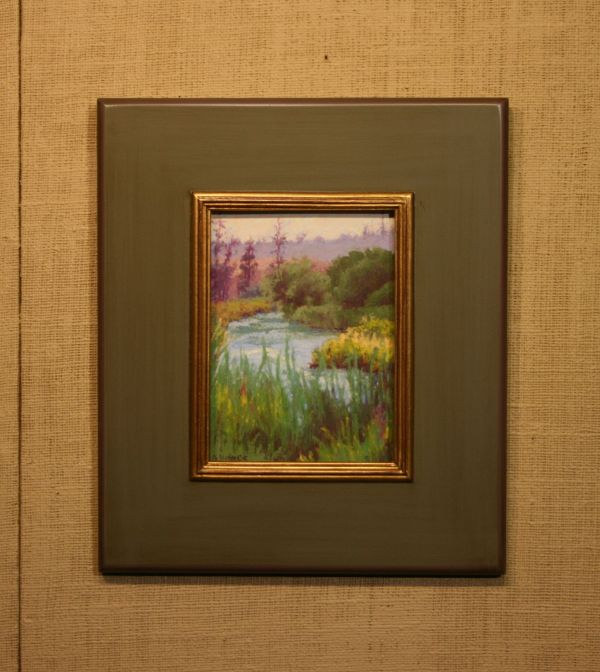 (Frame) Fishing's Good, Middle Deschutes by Norma Holmes