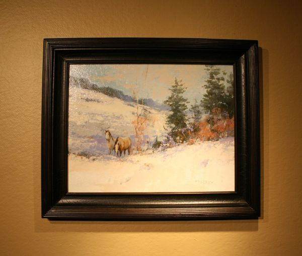 (Frame) Mustangs in Winter by J. M. Brodrick