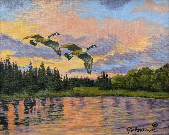 Sunset Harbor Isles by Judy Phearson