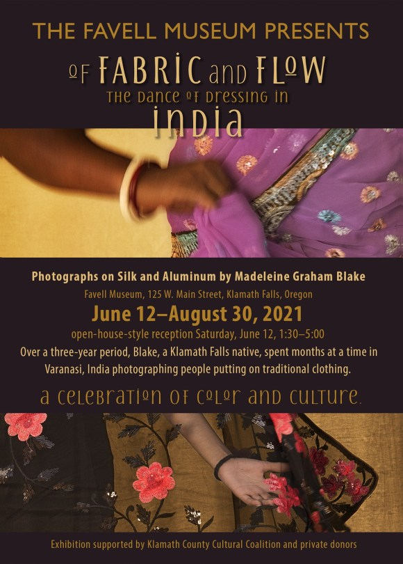 """""""Of Fabric and Flow - The Dance of Dressing in India"""" Poster"""