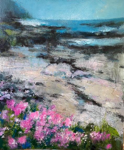 Wildflowers at Water's Edge by Barbara Enochian