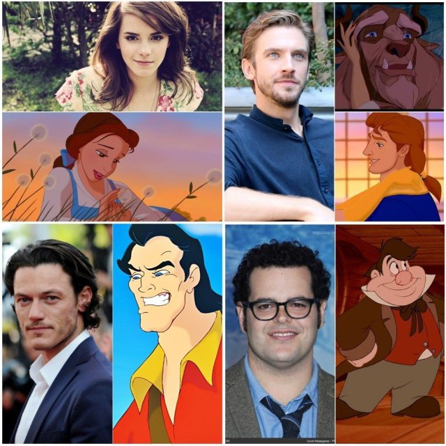 Characters from the Live Action 2017 Beauty and The Beast