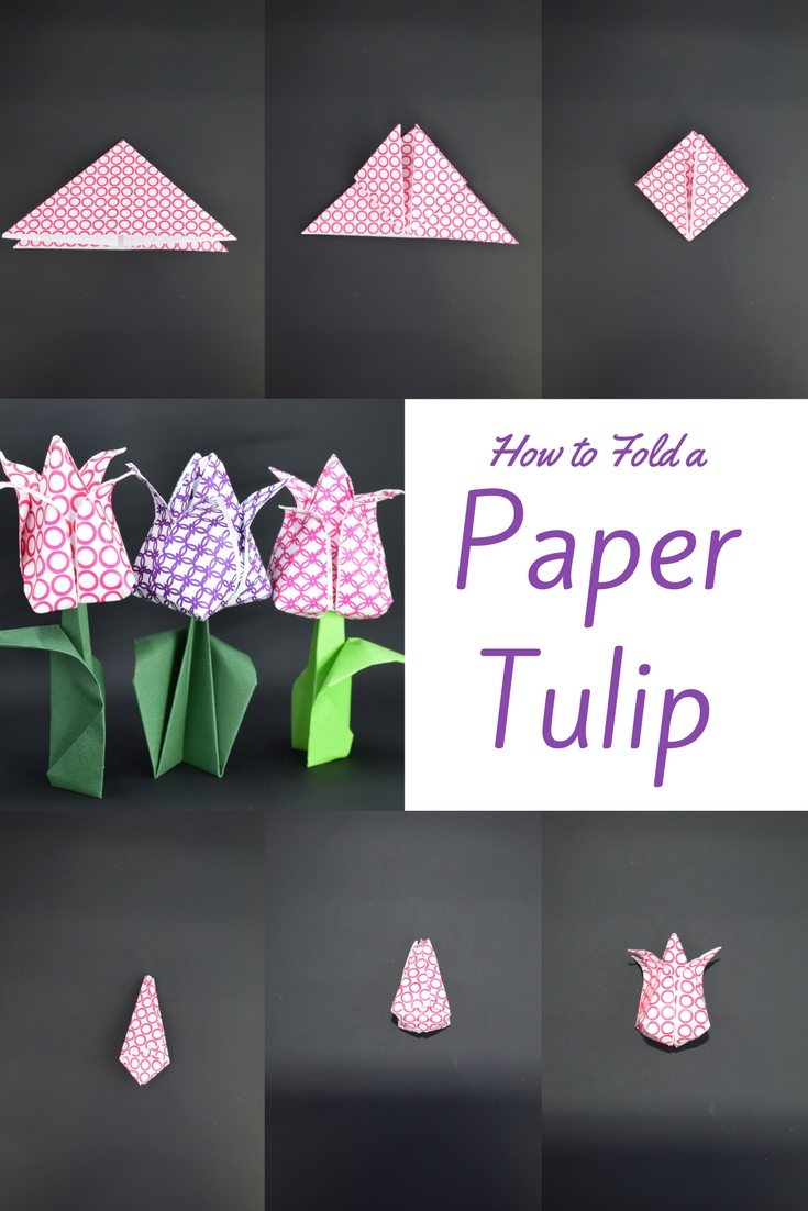 How to Fold a Paper Tulip Video Tutorial, Easy to follow and quick. Favemom.com