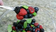 Berries with Mint Salad