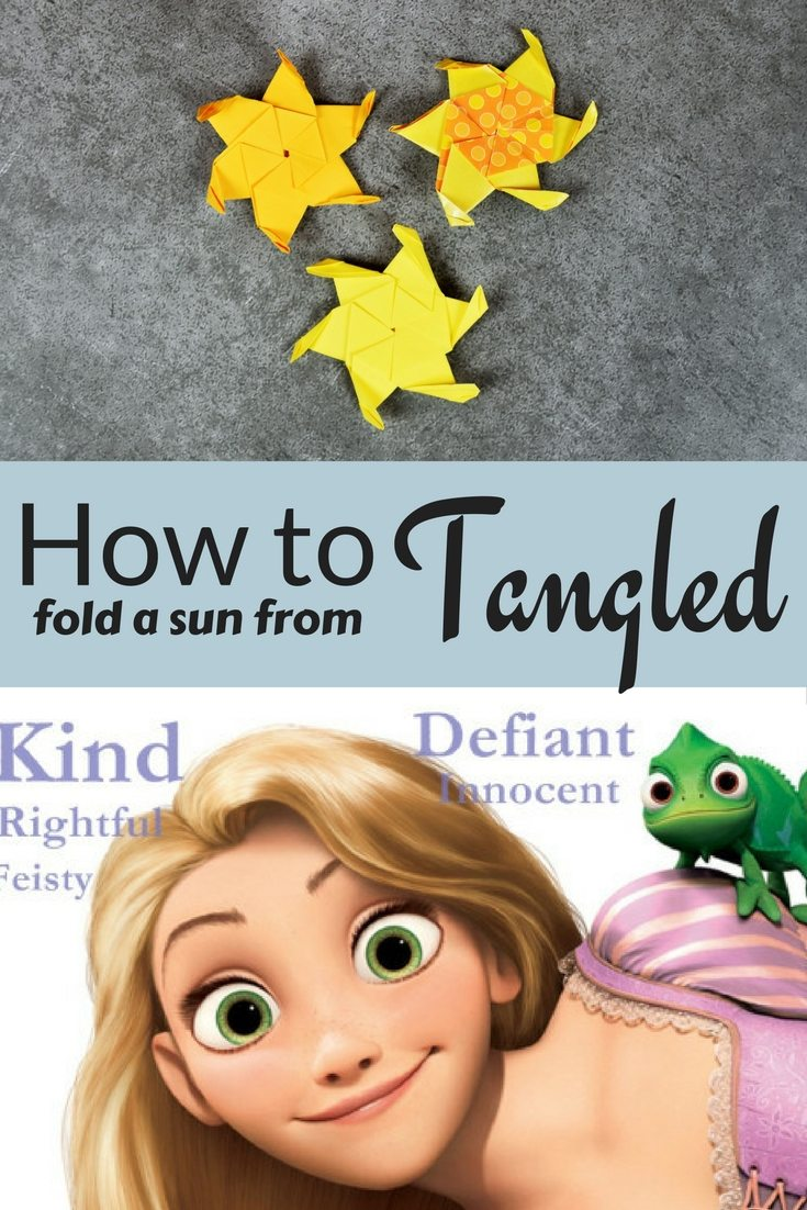 Origami Sun from Disney's Tangled