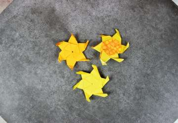 How to fold Origami Suns from Disney's Tangled