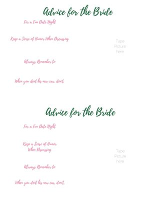Bridal Shower Game Advice for the Bride | FaveMom.com