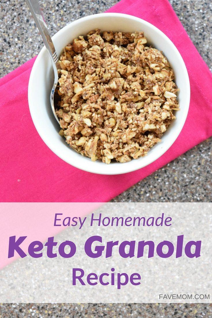 Easy Homemade Keto Granola Recipe | FaVe Mom