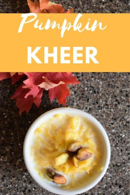 A not-so-typical delicious fall dessert that can only be made when the sweet pie pumpkins are available. No pumpkin pie spice here to make pumpkin kheer