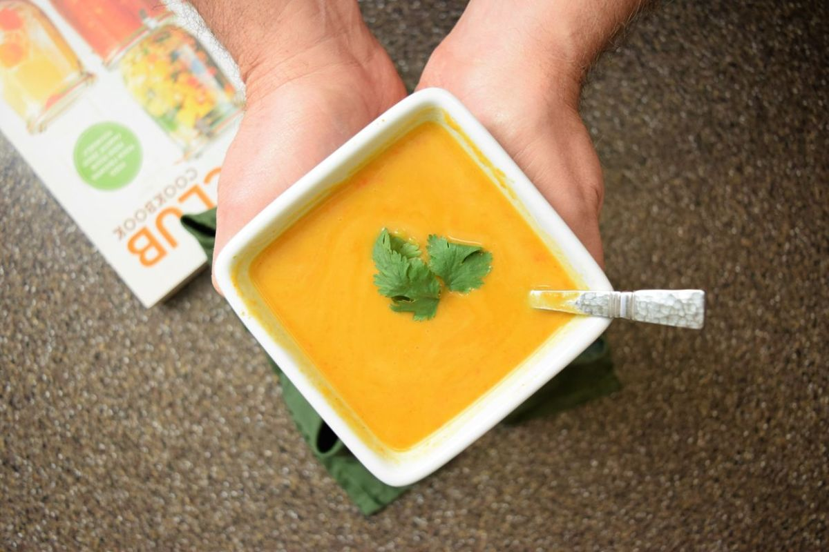 Easy Healthy Carrot Curry and Sweet Potato Soup recip