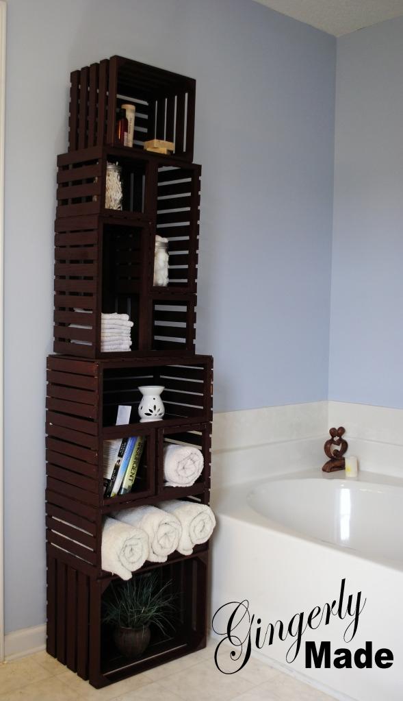 Wood crate linen cabinet  FaveThingcom