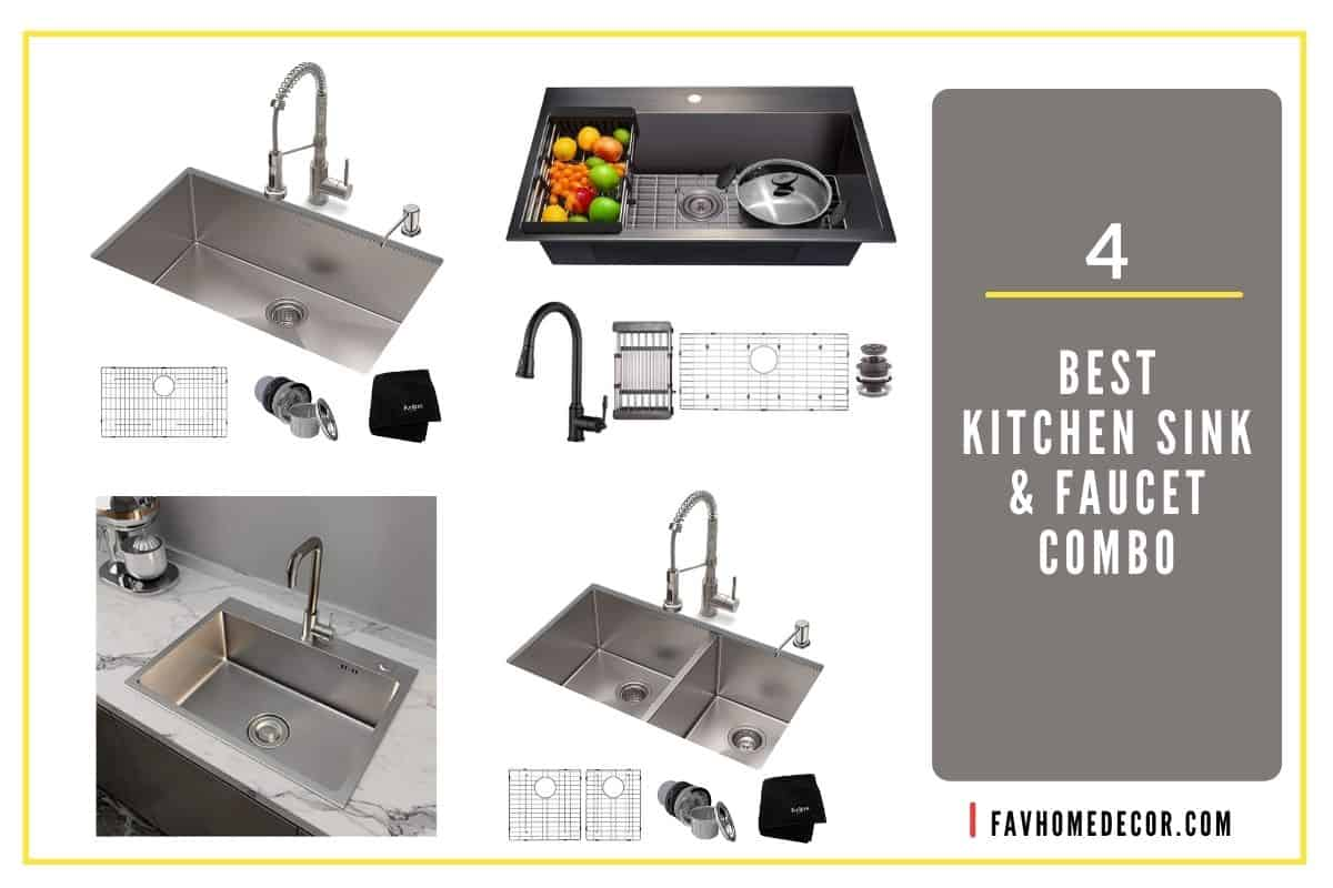 3 1 best kitchen sink and faucet combo