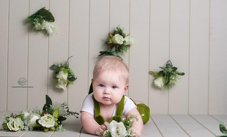 Brisbane Baby boy Milestone photoshoot