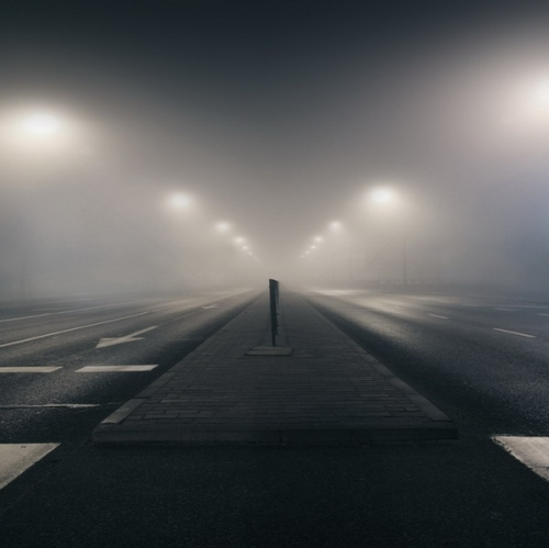 How To Set Gif As Wallpaper Iphone Atmosphere Fog Light Mist Night Road Image 8158 On