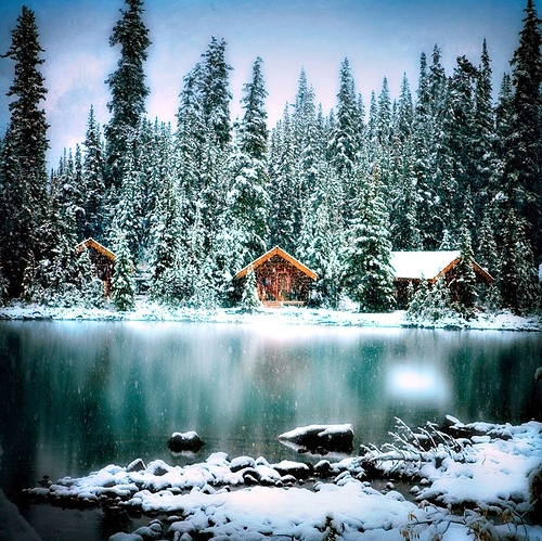 Frank Lloyd Wright Falling Water Wallpaper Cold Frozen Lake Outdoors Small House Snow Image