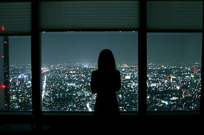 Girl Kiss To Boy Wallpaper City Cute Dark Girl Japanese Lonely Image 22853 On