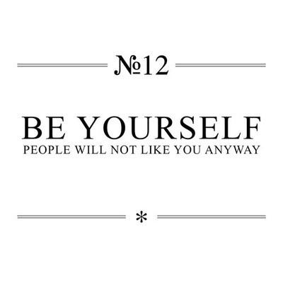 be yourself, beyourself, buddy, card, cynical, desc
