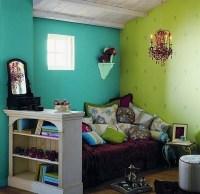 aqua, bedroom, blue, color, colors, decor - image #26729 ...