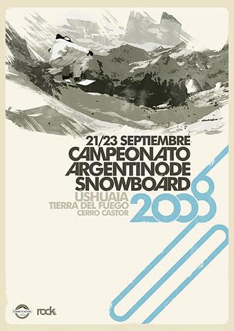 Snowboard Girl Wallpaper Ad2 Argentina Graphic Design Layout Minimalist Poster