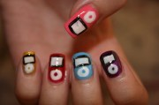 cute ipod nail art polish