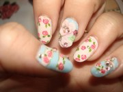 floral girly nail art nails