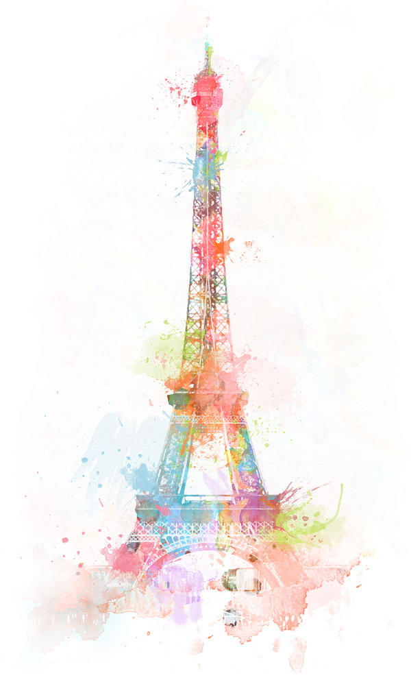 Girl Hijab Wallpaper Art Colors Colours Eiffeltower Painting Paris Image