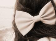 bow cute hair loop pink ribbon
