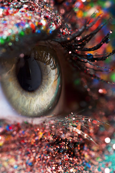 artsy eye eyelashes glitter hazel eyes image 131451