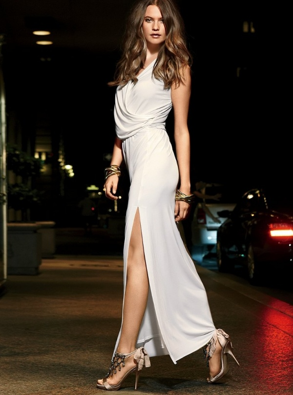 behati prinsloo model celebrity lady white dress high