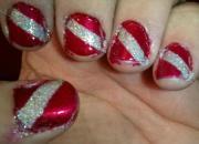 nice manicure art christmas