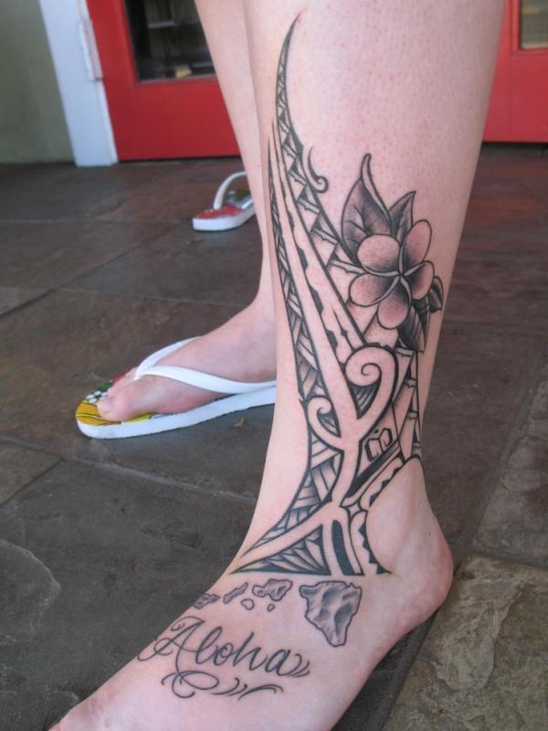 20 Hawaiian Polynesian Leg Tattoos Ideas And Designs
