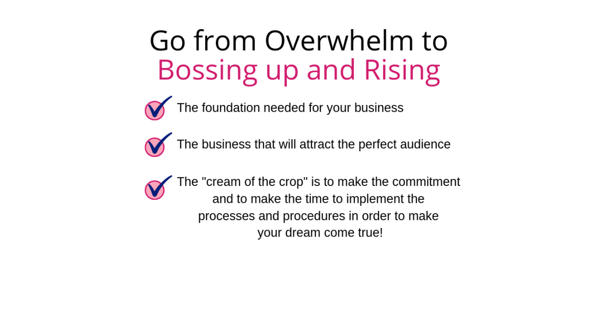 Boss Up and Rise Training
