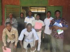 Les instituteurs de l'école de Vato