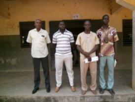 Gérant de Koumbia et personnel du lycée de departemental de Koumbia